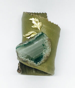 Green Agate Leather Wrap Cuff Bracelet - ByLaShanJewelry.com