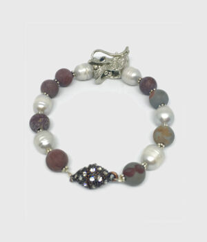 Jasper and Pearl Dragon Head Bracelet - ByLaShanJewelry.com