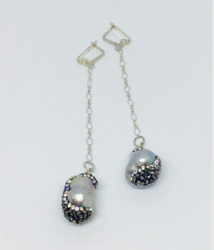 FRESHWATER & CRYSTAL DANGLE Earrings - ByLaShanJewelry.com