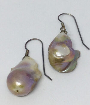 Rainbow Baroque Pearl Drop Earrings - ByLaShanJewelry.com