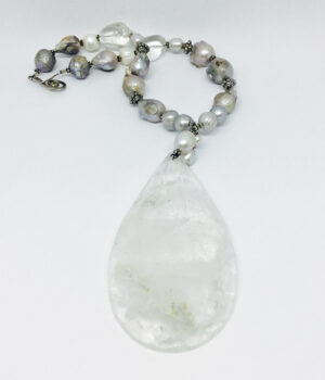 Grand Faceted Crystal & Baroque Necklace - ByLaShanJewelry.com