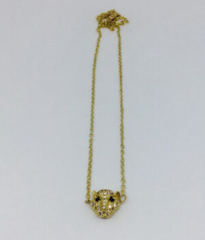 Golden Pave Crystal Necklace - ByLaShanJewelry.com