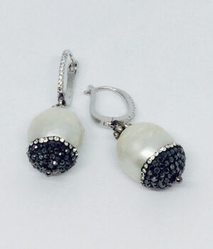 White Crystal Drop Earrings - ByLaShanJewelry.com