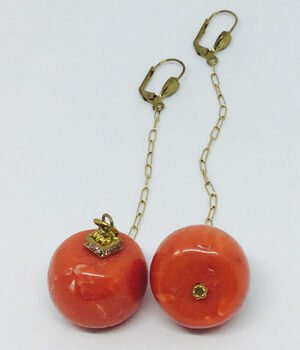 Coral Chain Drop Earrings - ByLaShanJewelry.com