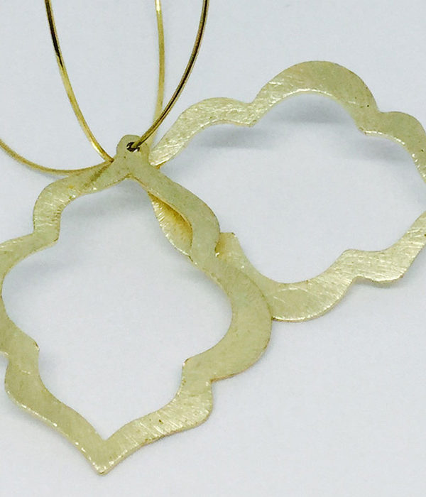 Brushed Gold Cutout Hoop Earrings - ByLaShanJewelry.com